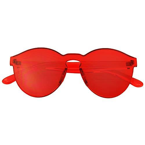 dd9448bf3 Emblem Eyewear - Mono Bloque Sin Montura PC Color Tone Lens Gafas De Sol  Gafas (