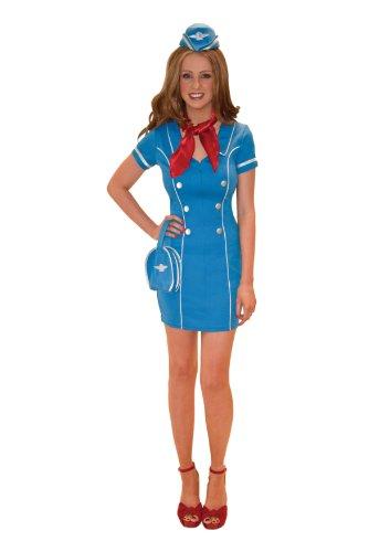 Kostüm Sexy Stewardess Flugbegleiterin 38/40 US-Grösse 10 - 12 M [27]