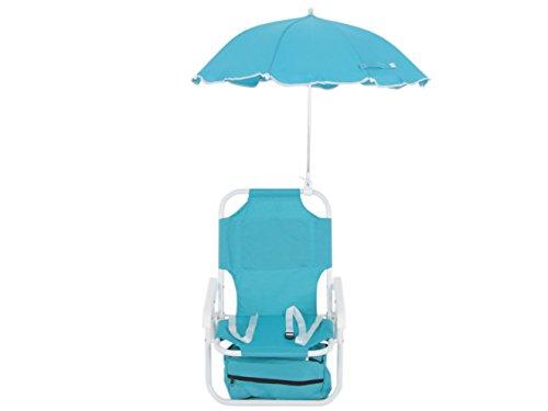 Dajar sedia a sdraio con ombrellone bambini, blu