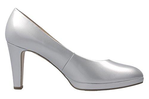 Gabor 61-270 Schuhe Damen Plateau Pumps Lack Weite F Silber
