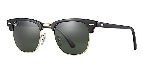 ray-ban-sunglasses-clubmaster-3016-49-mm-solid-black-g15-lens