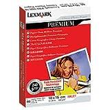 Lexmark Premium Papier photo brillant -10 X 15 60 feuilles