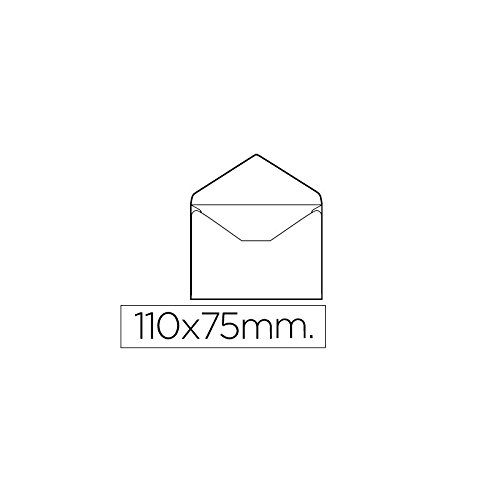 Sobre tarjeta de visita blanco sin engomar caja de unidades