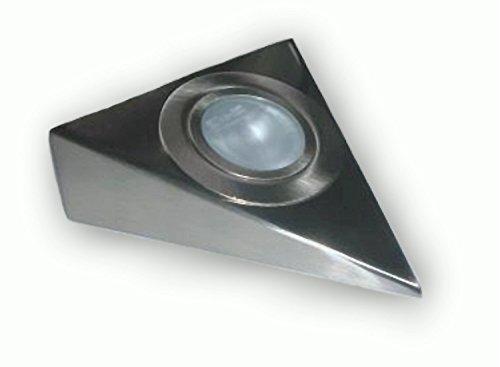 12 V Dreieck Edelstahl Küchen Unterbauleuchte inkl. G4 20 W Halogen Stiftsockel Lampe