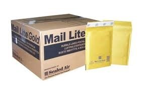 100x mail lite gold a/000 (110mm x 160mm) bubble lined envelopes