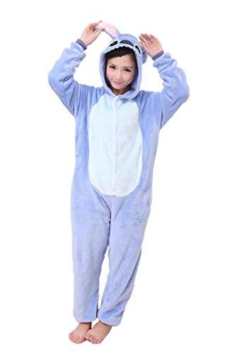 Blue Stitch Schlafanzug für Erwachsene, für Damen und Herren, Blau Gr. 85, blau