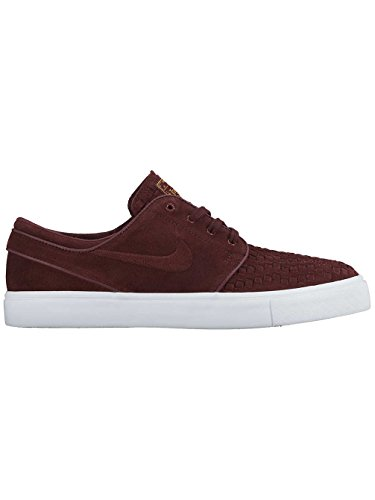 Nike Zoom Stefan Janoski Elite, Scarpe in Stile Skater Uomo Night Maroon/Night Maroon-Ivry-Metallic G
