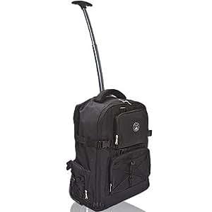 Bilora 317-R Sac trolley pour appareil photo reflex numérique avec multiples compartiments rembourrés, compartiment pour ordinateur portable et protection anti-pluie Noir