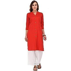 Attire Fashion Women's Cotton Straight Kurta