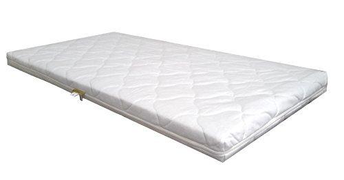 Baby Schaumkernmatratze Comfort gesteppt Babymatratze Matratze 70 x 140 weiß Schaumstoff