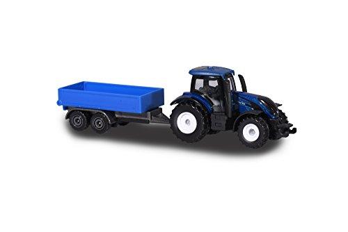 Majorette 212057430Q02 Farm Set, Valtra T4 Traktor mit Anhänger