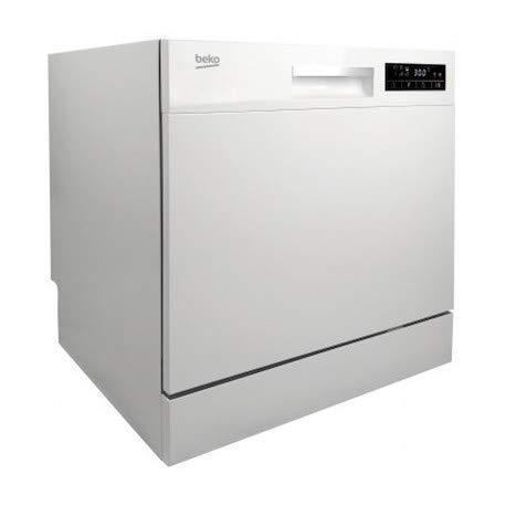 Beko DTC36810W Encimera 8cubiertos A+ lavavajilla - Lavavajillas (Encimera, Blanco, Compacto, Estático, Canasta, Acero inoxidable/plástico)