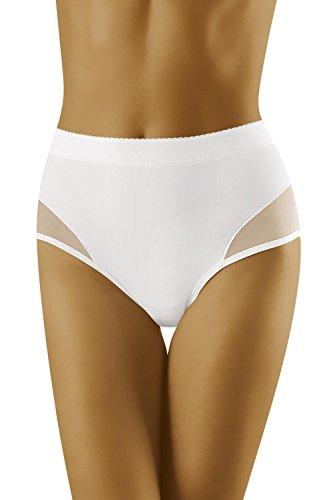 Wolbar Miederslip Dame Shapewear Musterlos Hoher Bund WB302 Weiß