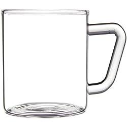 BOROSIL® Classic Tazas café / Tazas té | 190ml | conjunto de 6 | Ultra clara | Adecuado para microondas | Aptas para el lavavajillas