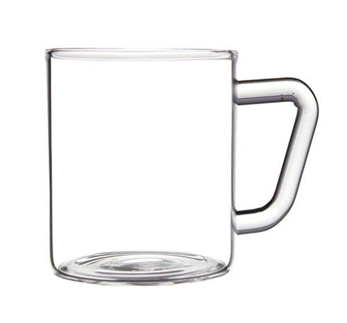 BOROSIL Kaffeetasse/Cappuccinotasse/Teetasse | 190ml |6er Set | Ultra Klar | Spülmaschinenfest | Mikrowellengeeignet Glas | VISION CLASSIC SERIE