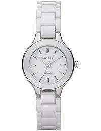 DKNY Damen-Armbanduhr XS Analog Quarz Keramik NY4886