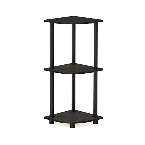 one size Wood Furinno Toolless Shelves Black//Grey