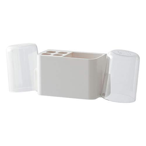 UANDM Titular de cepillo de dientes montado en la pared Baño Boca Portaequipajes Perfora libre Cepillo de dientes Estante de almacenamiento Material duradero y agradable para la piel Diseño simple Bla