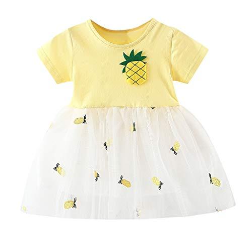 Baby Mädchen Tüll Patchwork Tütü Kleid KIMODO® Kleinkind Ananas Drucken Urlaub Sommerkleid Party Prinzessin Outfit ()