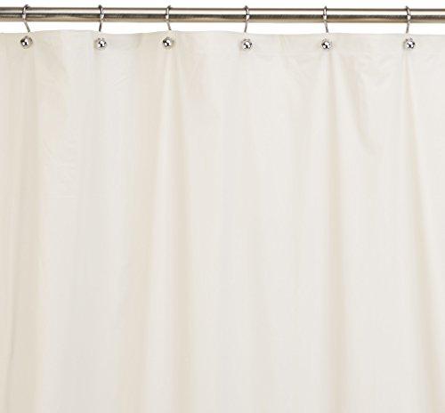 Carnation Home Fashions Jumbo lang Vinyl Duschvorhang Liner, 183cm von Beton, knochenfarben, Twin XL