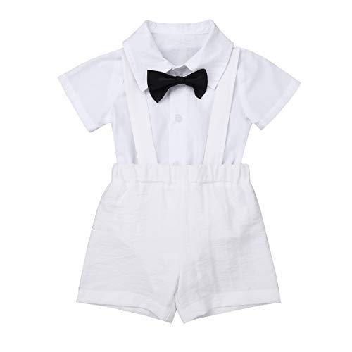 Ranrann Ropa Bautizo Bebé Niño Camisa Manga Corta