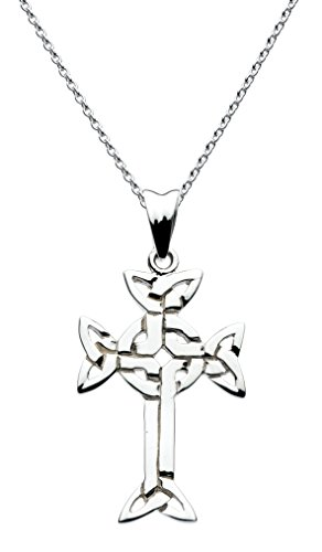 heritage-womens-sterling-silver-celtic-knotwork-cross-necklace-of-length-18-inch