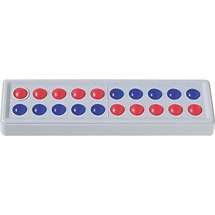 Schubi Abaco 20 (5/5 Kugeln Versetzt, Rot/blau): Der Zähl- Und Rechenrahmen Bis 20 Mit Dem Genialen Dreh