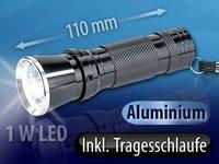 PEARL Power-LED-Taschenlampe mit 1-Watt-Premium-LED von PEARL - Lampenhans.de