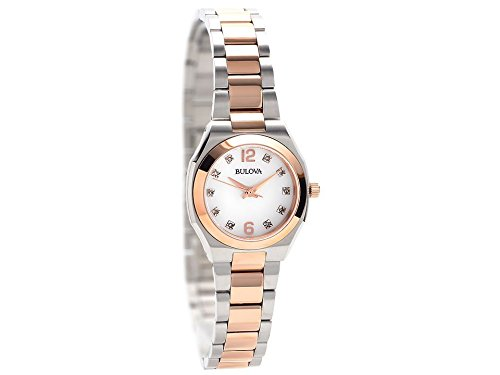 Watch only time Woman BULOVA in Bicolor Steel and Diamonds 98S143