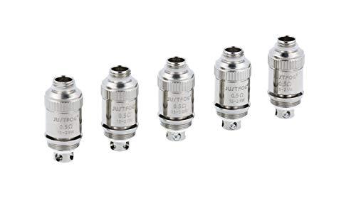 JustFog Fog1 Verdampferköpfe mit 0,5 Ohm oder 0,8 Ohm - 5 Stück pro Packung und Variante - Widerstand: 0,5 Ohm