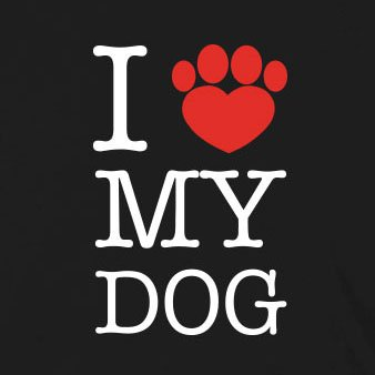 I love my Dog - Herren Langarm T-Shirt Blau