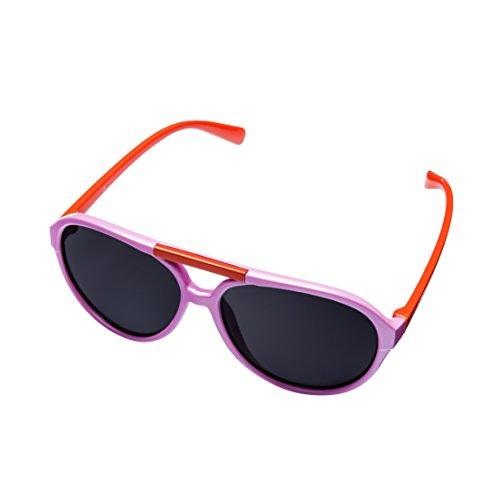 Spektrum Glasses MIRA MR-200 Kids ?Aviator? Sonnenbrille - Polarisierte Brillengläser mit 100% UVA- und UVB-Schutz - Komfortables Mädchen Retro-Design - Inklusive Geschenkbox & Mikrofaser-Tragetasche
