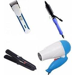 COMBO 522 HAIR Straightener ,hair Dryer 1000W , hair trimmer , 16b hair curler ( 4pc combo)
