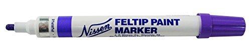 Nissen 00360 Standard Feltip Paint Marker, Purple (Pack of 12) by Nissen