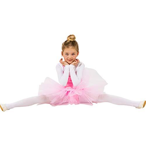 Ballerina Prima Kostüm Mädchen - NET TOYS Niedliches Kleid für Mädchen Kleine Ballerina | Rosa in Größe 104, 3 - 4 Jahre | Hinreißendes Kinder-Kostüm Ballett-Tänzerin | Passend gekleidet für Kinderfasching & Fasnet