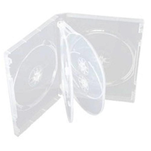Four Square Media - Lote de 5 cajas para 6 CD, DVD o Blu-ray (14 mm), transparente