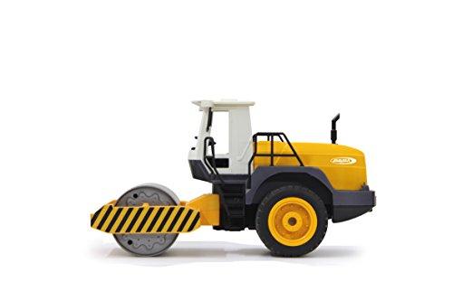 RC Auto kaufen Spielzeug Bild 4: Jamara 410011 - Straßenwalze 1:20 m. Rüttelfunktion 2,4G - Vibrationsmotor in der Walze, realistischer Motorsound, Hupe, Rückfahrwarnsound Blinker, Licht vorne / hinten, profilierte Gummireifen*