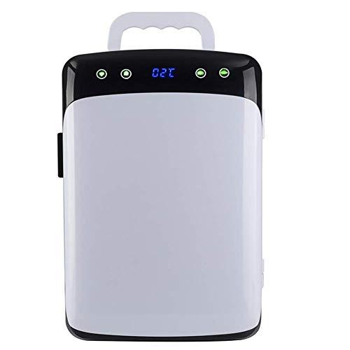 YEXIN Mini-Kühlschrank Elektrische Kühlbox LED-Anzeige 12V DC für Auto und Zuhause 12L Tragbarer Kühlschrank Kühl und Warm Auto Kühlschrank mit Fenster für Reisen und Camping