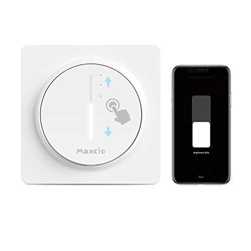Alexa Dimmer Schalter, Maxcio Smart Dimmer Lichtschalter, Kompatibel mit Alexa/Google Home, WLAN Berühren Lichtschalter mit Timerfunktion, Smart Life APP Fernbedienung - Nullleiter Erforderlich