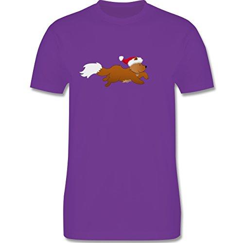 Weihnachten & Silvester - Weihnachtsfuchs - Herren Premium T-Shirt Lila