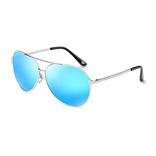 SWIMMM Designer Sonnenbrillen Männer Frauen Horn Umrandete Klassische Retro Vintage Style Sonnenbrille Voller UV400 Schutz (Farbe : Blau)
