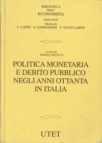 Politica monetaria e debito pubblico