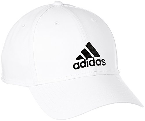 adidas 6PCAP LTWGT EMB Hat, White/Black, One Size - Fern-panel