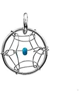 Sterling Silber Türkis Imitat Sehr Klein Traumfänger 10 mm Charm Anhänger