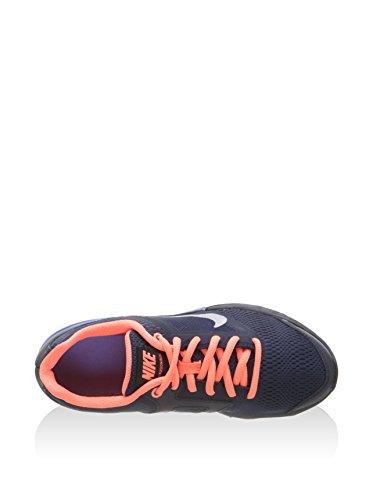Nike Mädchen Tri Fusion Run (Gs) Laufschuhe Schwarz / Silber / Gelb (Obsidian / Mtllc SLVR-brght Mng)