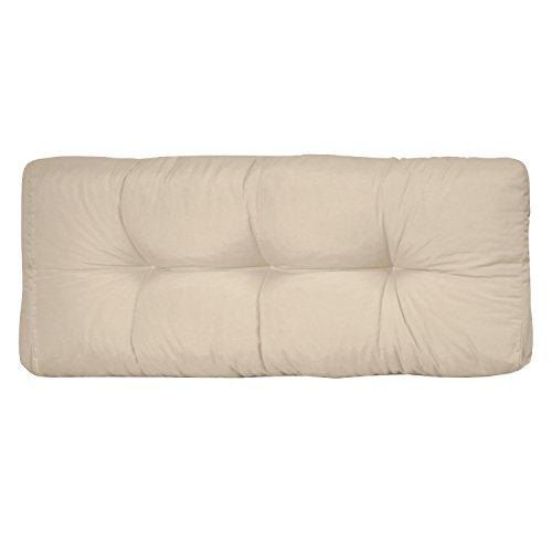 Beautissu® Palettenkissen ECO Style Rückenkissen 120x40x10-20 cm Palettenauflage in Beige Palettenpolster Europaletten - 2