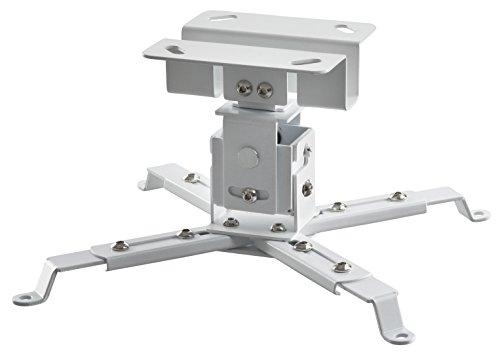 celexon neigbare und schwenkbare Beamer-Deckenhalterung universal MultiCel1200W - weiß - 12 cm Deckenabstand - bis 25 kg