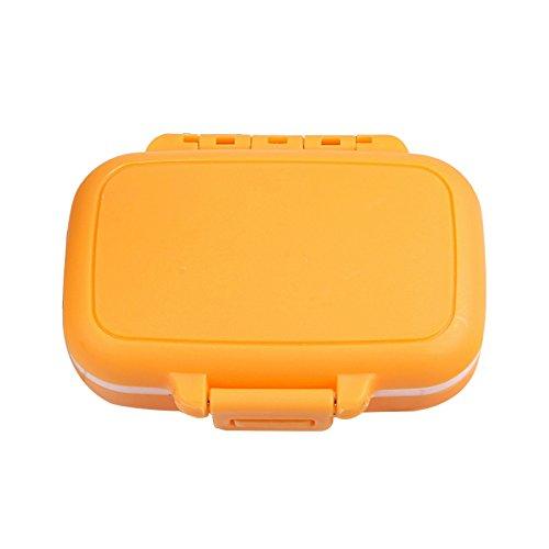 Tragbare Reise-Vitamin-Aufbewahrungsbox, wasserdicht, für Medikamente, Schmuck, Süßigkeiten, Pastell-Container -