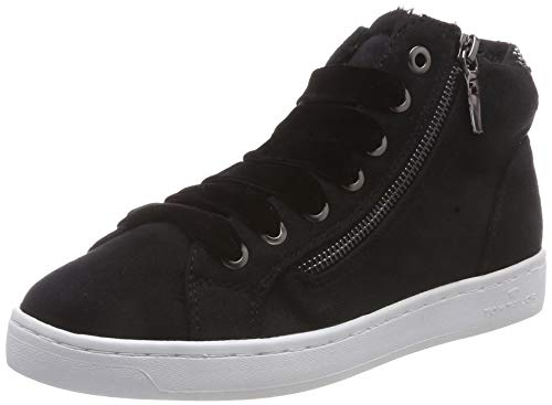 TOM TAILOR Damen 5892609 Hohe Sneaker, Schwarz (Black 00001), 40 EU