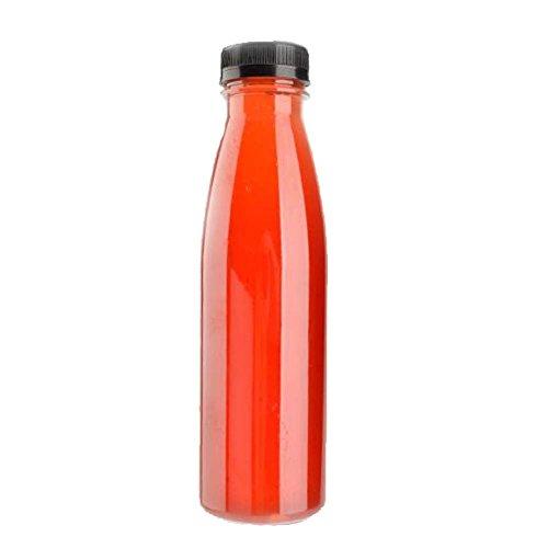 Transparente Getränke-Schalen-Wegwerfsaft-Flaschen mit Abdeckungs-Satz von 20# 1 (Transparente Pet-schale)